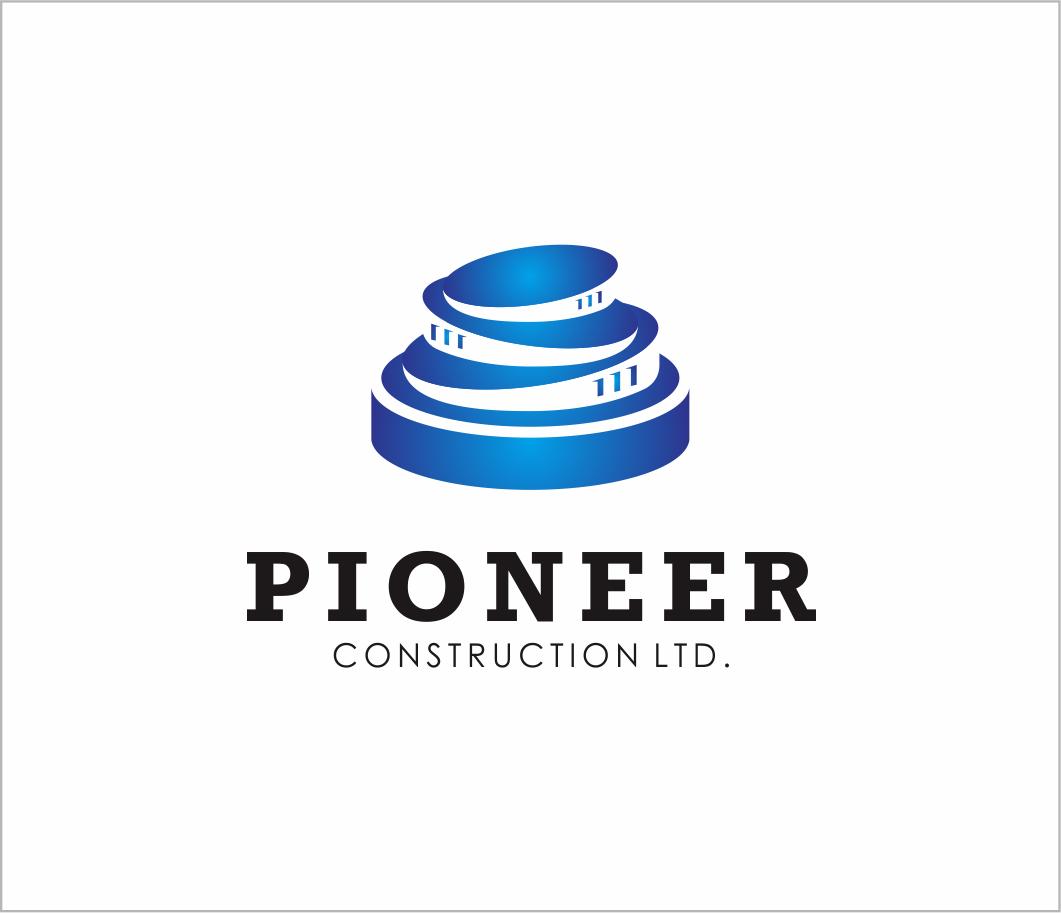 Logo Design by Armada Jamaluddin - Entry No. 90 in the Logo Design Contest Imaginative Logo Design for  Pioneer Construction Ltd.