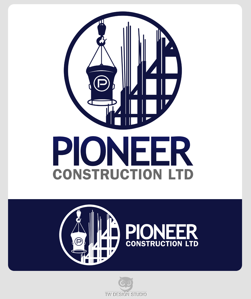 Logo Design by Robert Turla - Entry No. 91 in the Logo Design Contest Imaginative Logo Design for  Pioneer Construction Ltd.