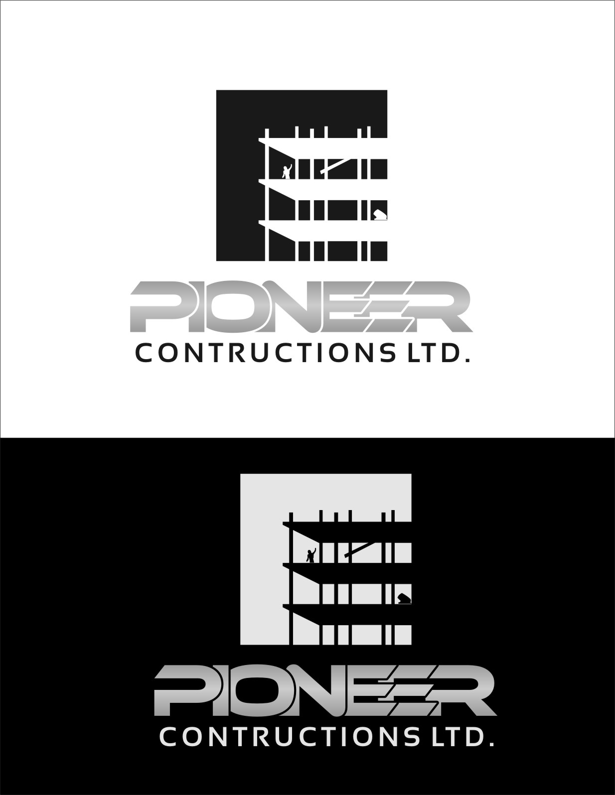 Logo Design by RasYa Muhammad Athaya - Entry No. 94 in the Logo Design Contest Imaginative Logo Design for  Pioneer Construction Ltd.