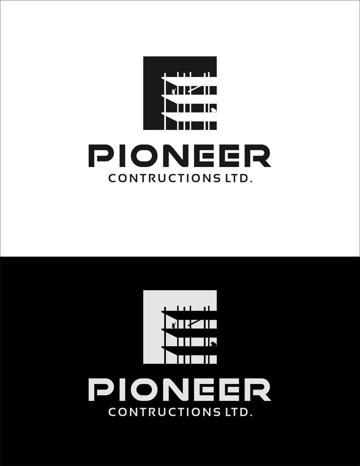 Logo Design by RasYa Muhammad Athaya - Entry No. 95 in the Logo Design Contest Imaginative Logo Design for  Pioneer Construction Ltd.