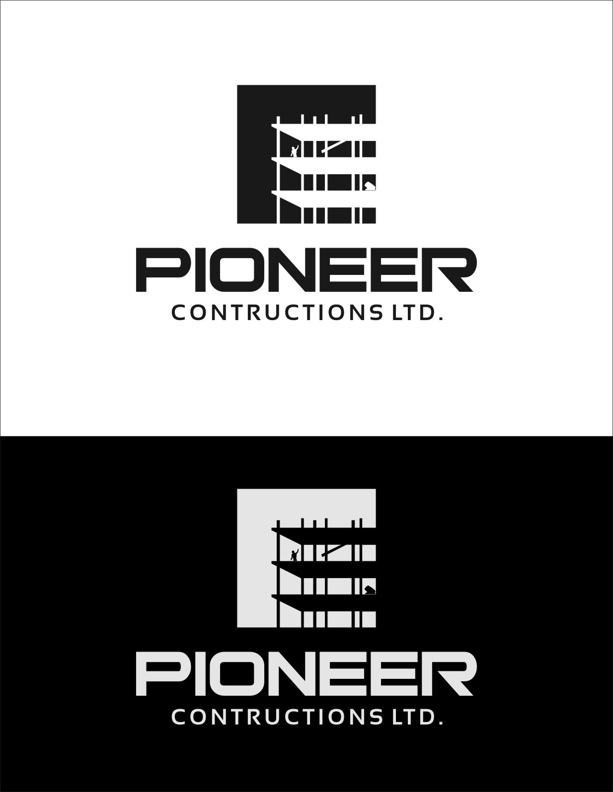 Logo Design by RasYa Muhammad Athaya - Entry No. 96 in the Logo Design Contest Imaginative Logo Design for  Pioneer Construction Ltd.