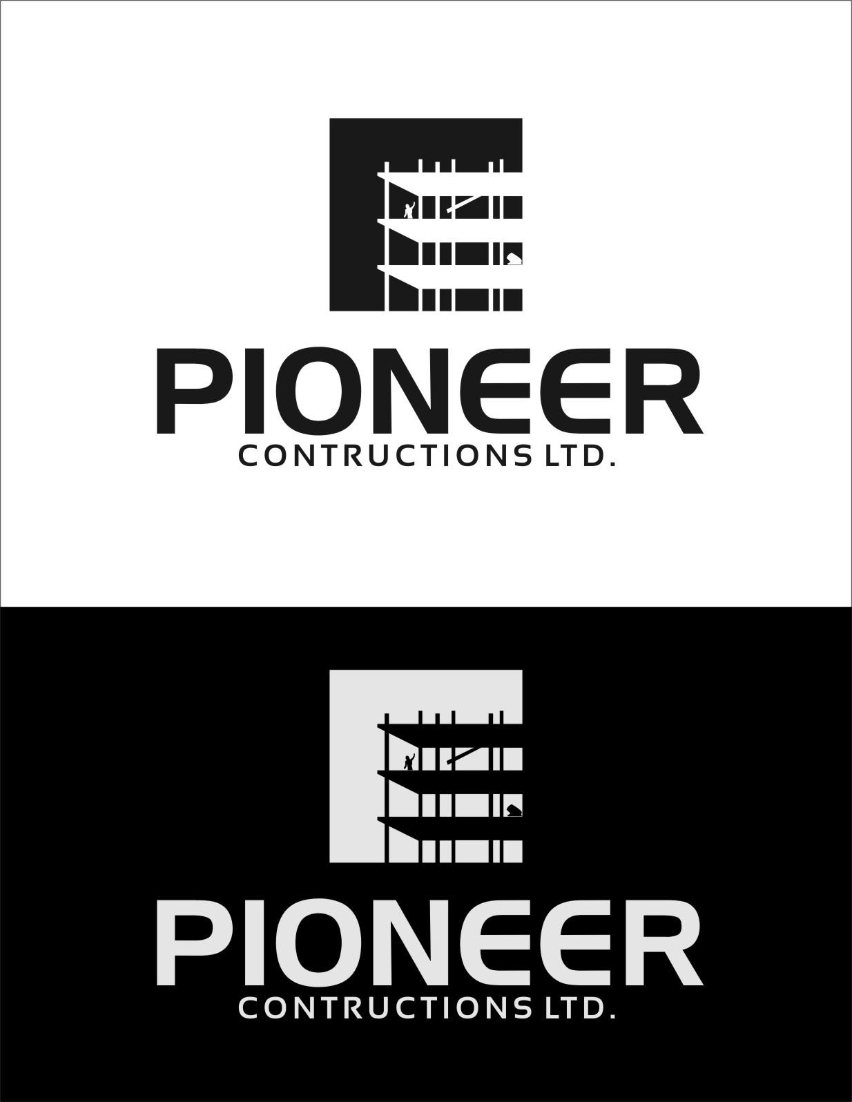 Logo Design by RasYa Muhammad Athaya - Entry No. 97 in the Logo Design Contest Imaginative Logo Design for  Pioneer Construction Ltd.