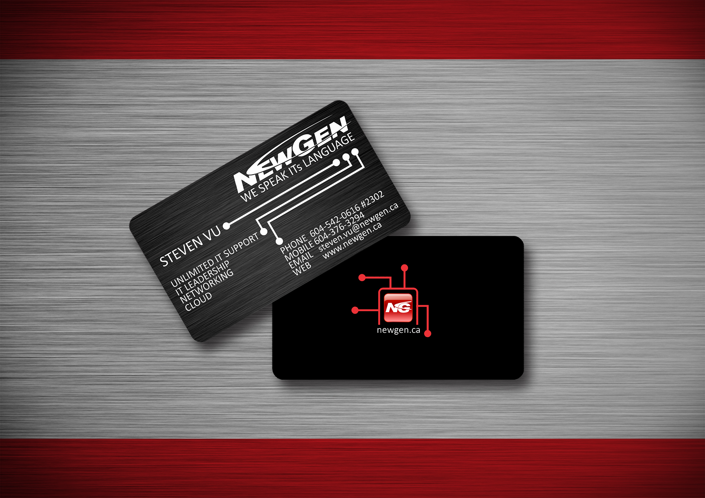 Business Card Design by Respati Himawan - Entry No. 8 in the Business Card Design Contest Inspiring Business Card Design for NewGen Technologies.