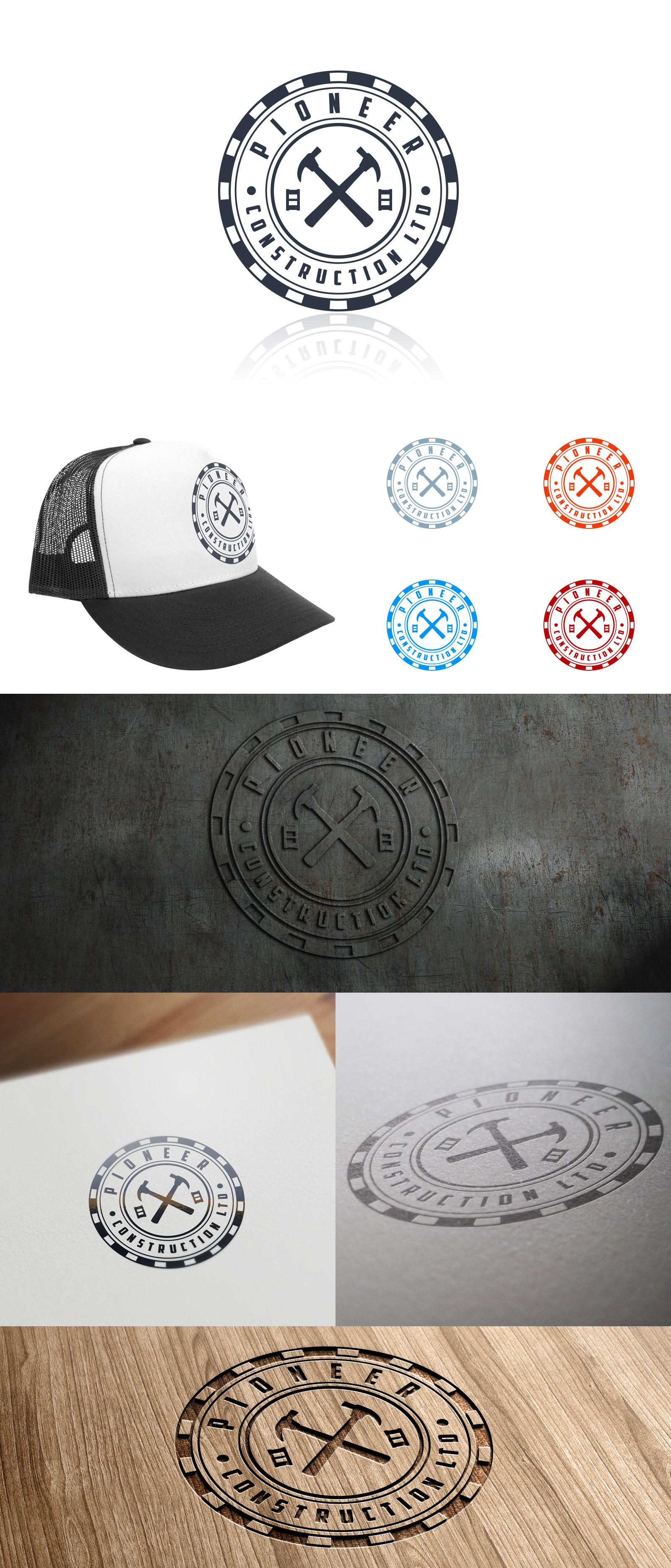 Logo Design by olii - Entry No. 106 in the Logo Design Contest Imaginative Logo Design for  Pioneer Construction Ltd.