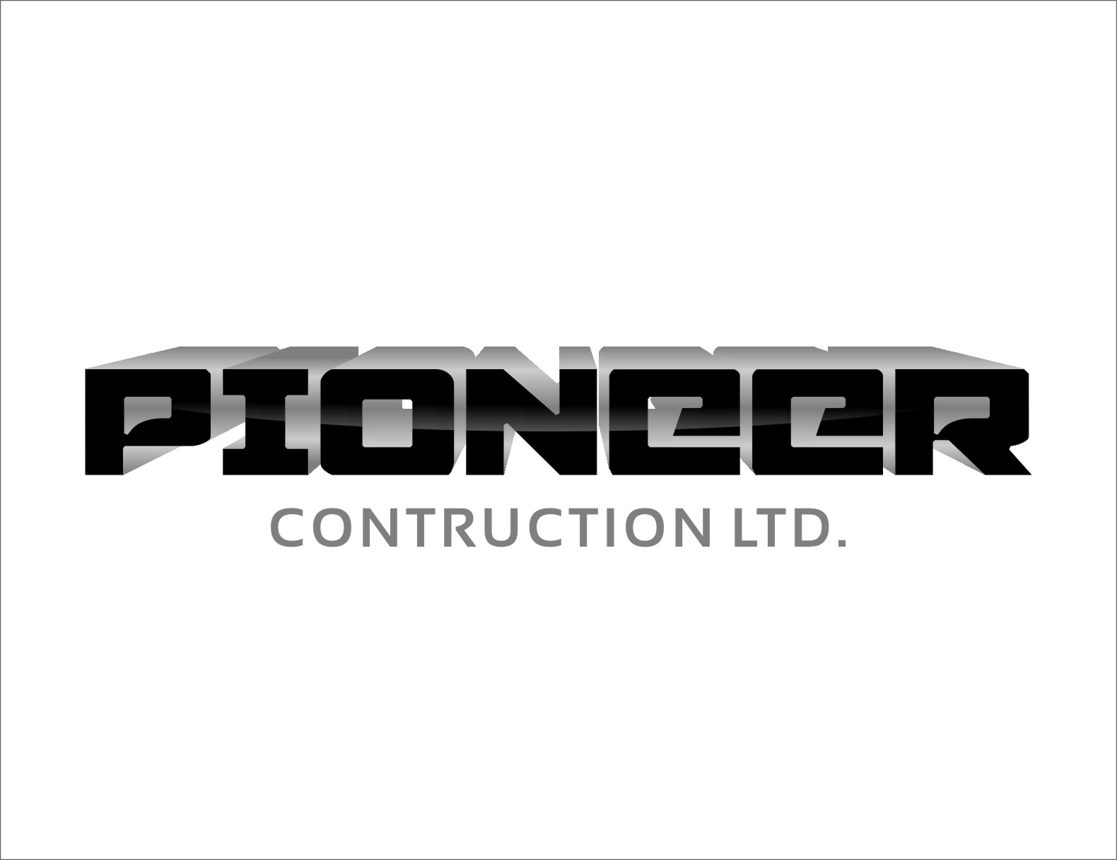 Logo Design by RasYa Muhammad Athaya - Entry No. 113 in the Logo Design Contest Imaginative Logo Design for  Pioneer Construction Ltd.