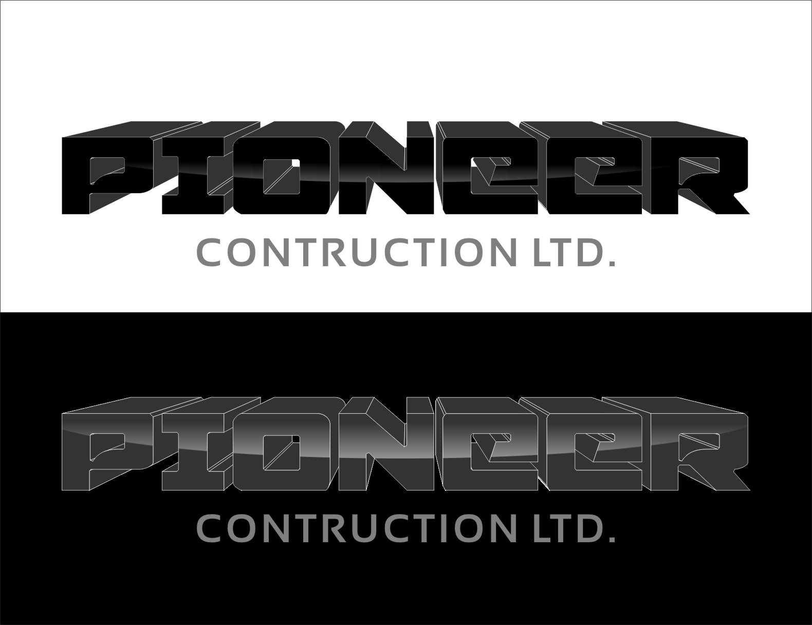 Logo Design by RasYa Muhammad Athaya - Entry No. 114 in the Logo Design Contest Imaginative Logo Design for  Pioneer Construction Ltd.