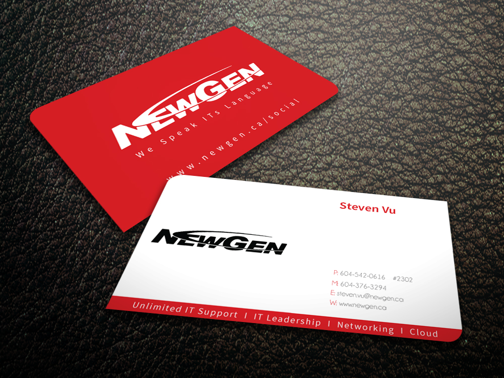 Business Card Design by mediaproductionart - Entry No. 22 in the Business Card Design Contest Inspiring Business Card Design for NewGen Technologies.