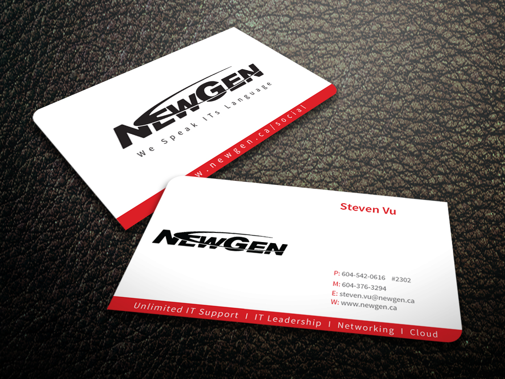 Business Card Design by mediaproductionart - Entry No. 24 in the Business Card Design Contest Inspiring Business Card Design for NewGen Technologies.