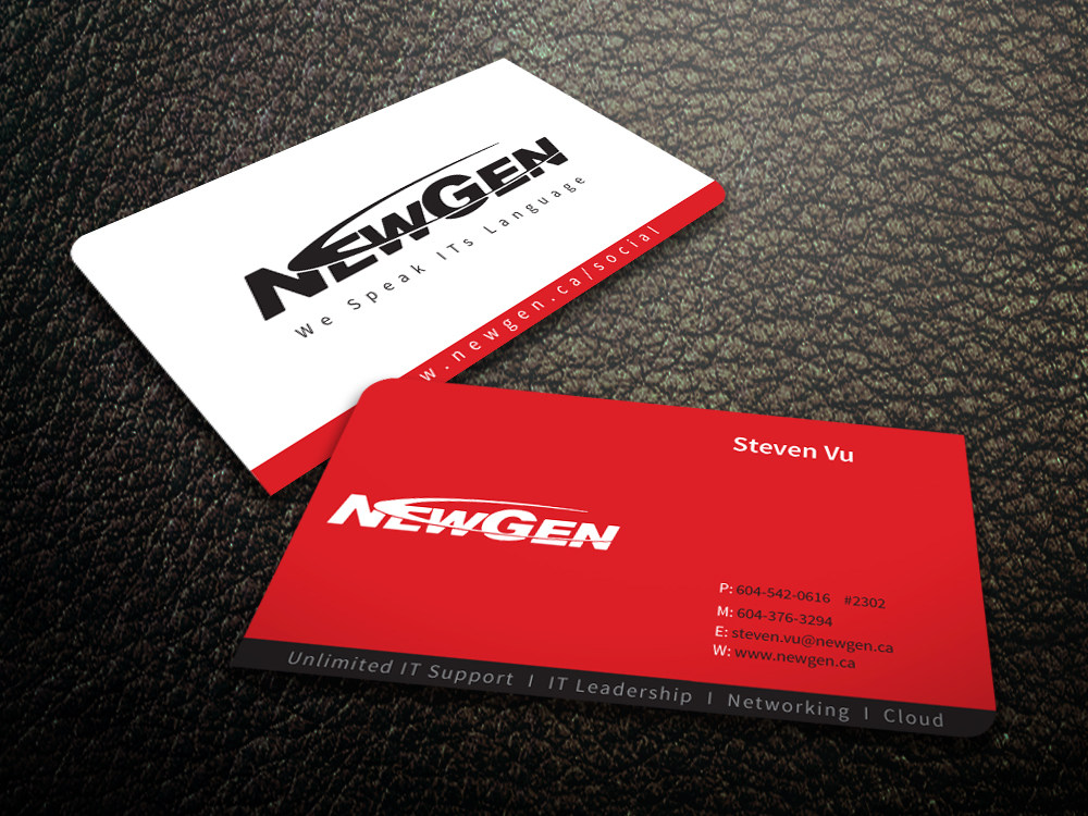 Business Card Design by mediaproductionart - Entry No. 27 in the Business Card Design Contest Inspiring Business Card Design for NewGen Technologies.