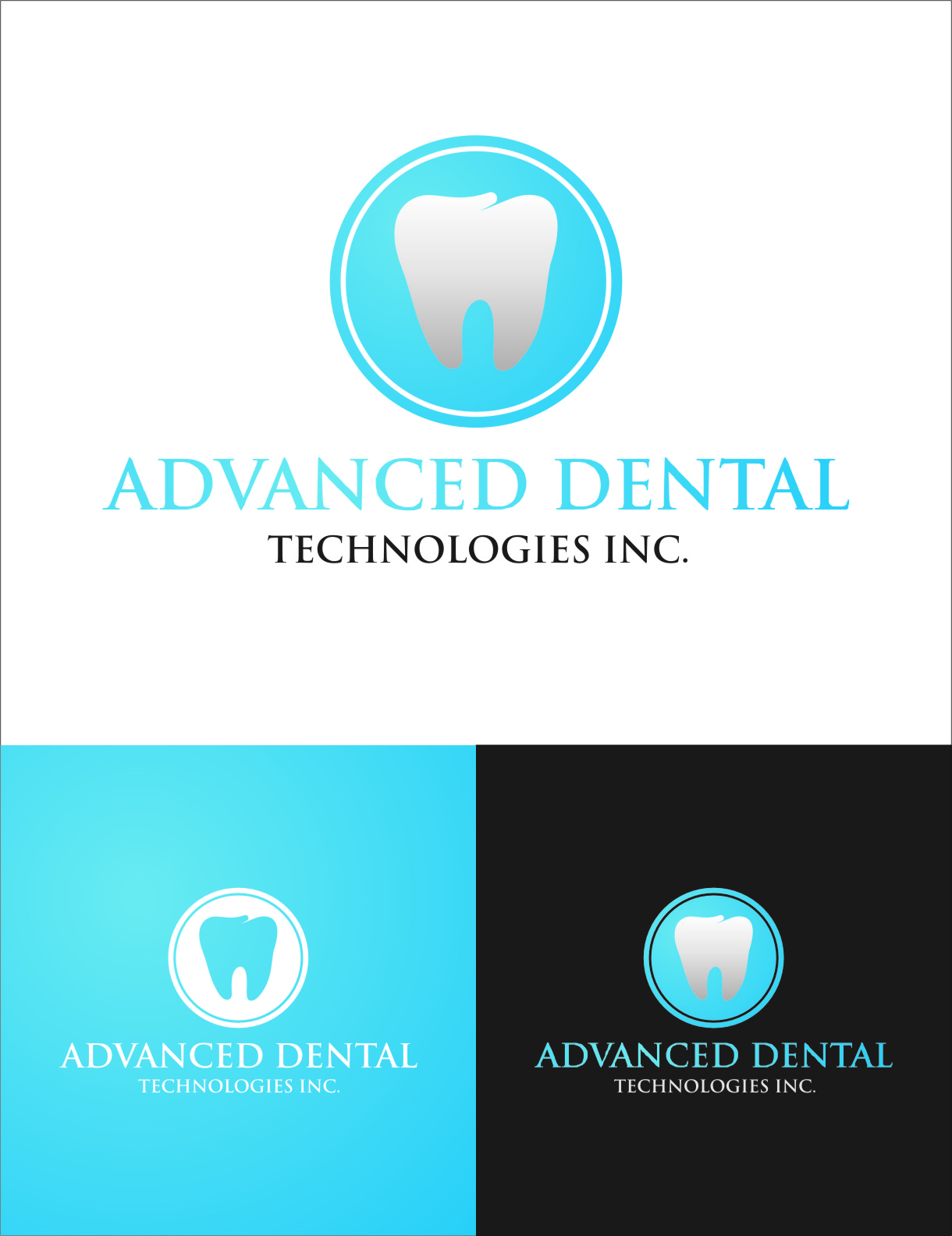 Logo Design by RasYa Muhammad Athaya - Entry No. 76 in the Logo Design Contest Fun Logo Design for Advanced Dental Technologies Inc..