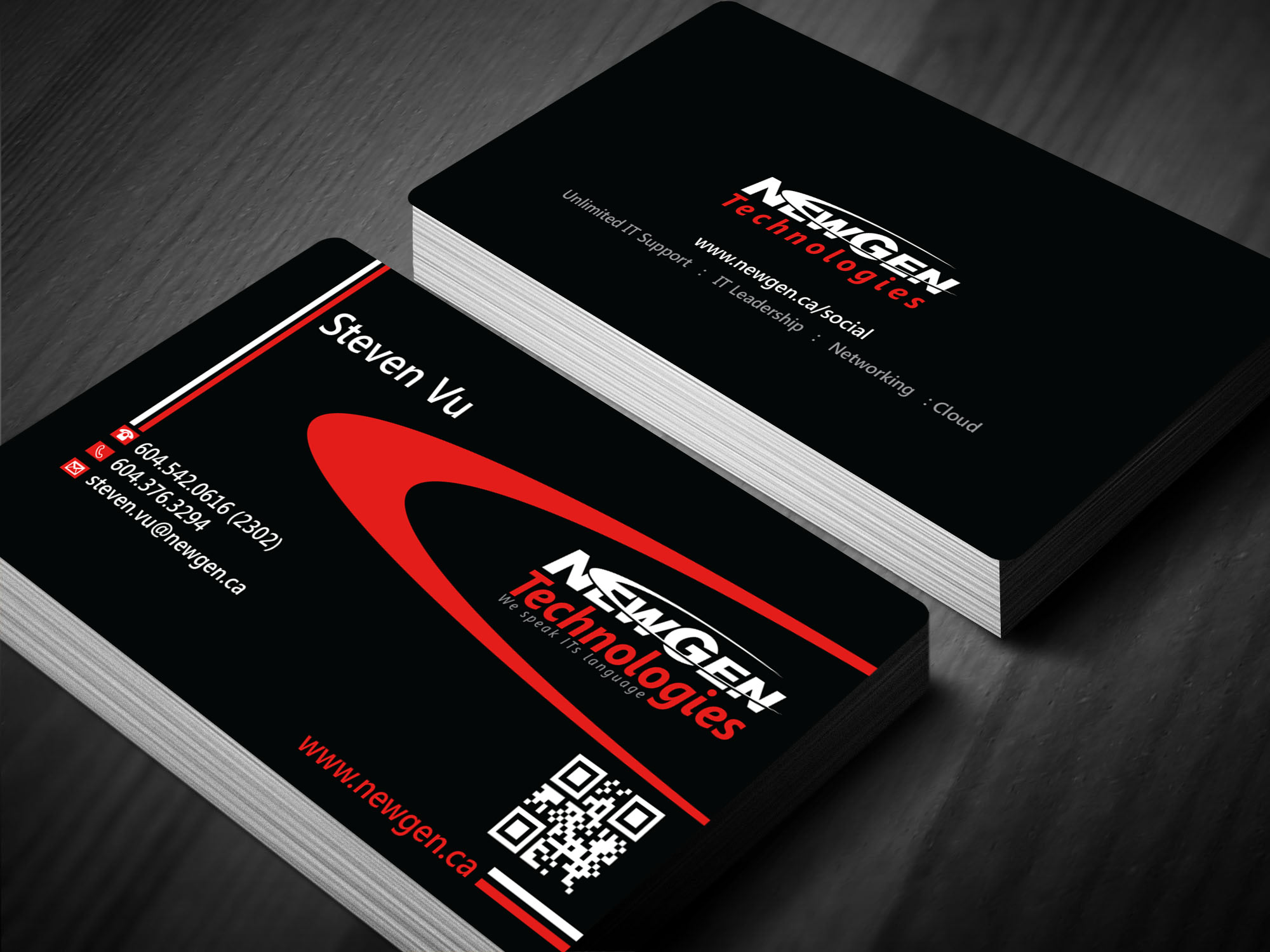Business Card Design by lagalag - Entry No. 37 in the Business Card Design Contest Inspiring Business Card Design for NewGen Technologies.