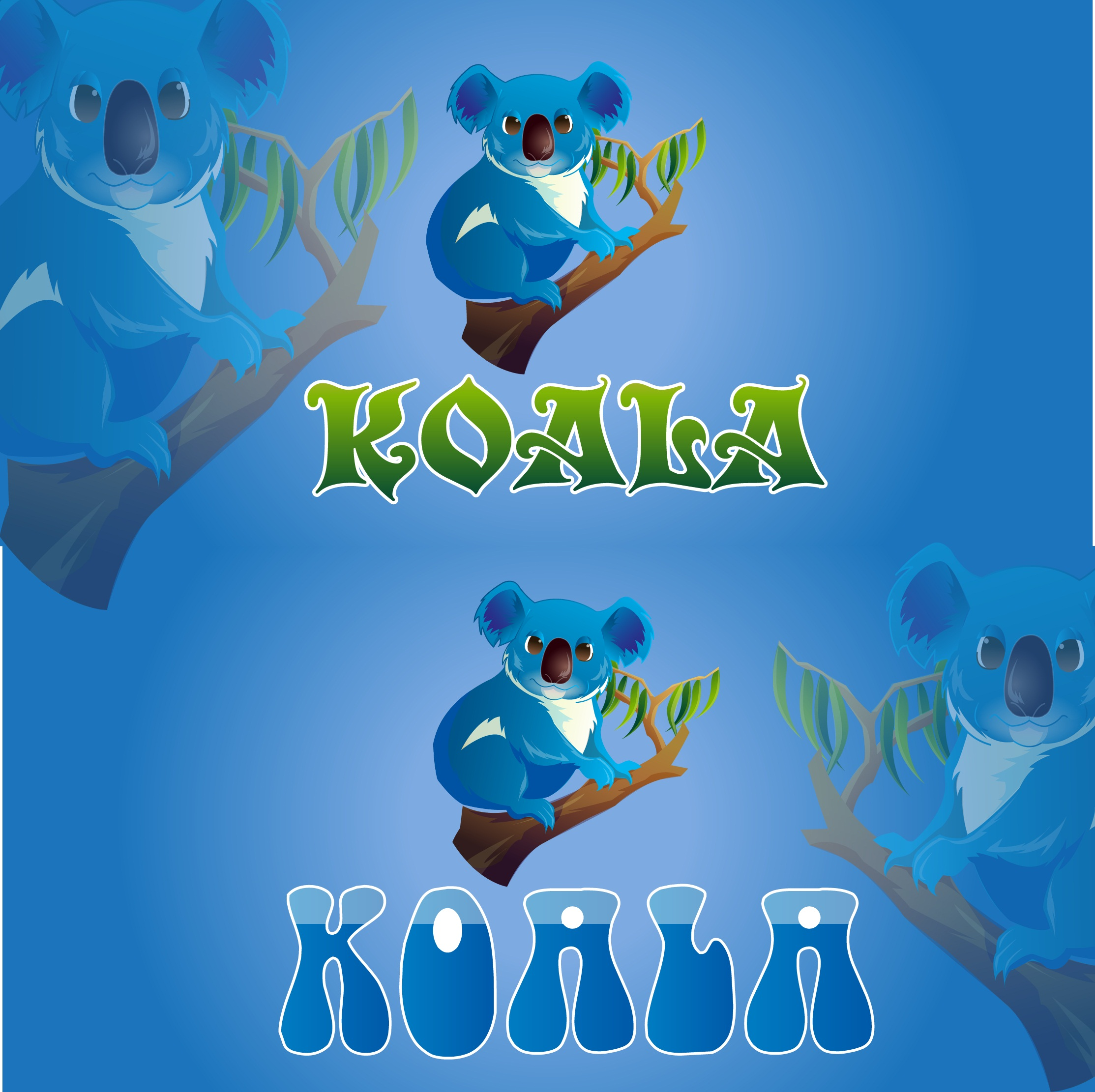 "Logo Design by mediaproductionart - Entry No. 11 in the Logo Design Contest Imaginative Logo Design for ""Koala""."