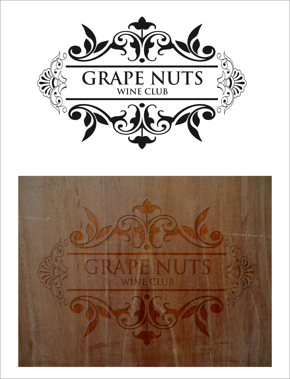 Logo Design by RasYa Muhammad Athaya - Entry No. 8 in the Logo Design Contest Artistic Logo Design for Grape Nuts Wine Club.