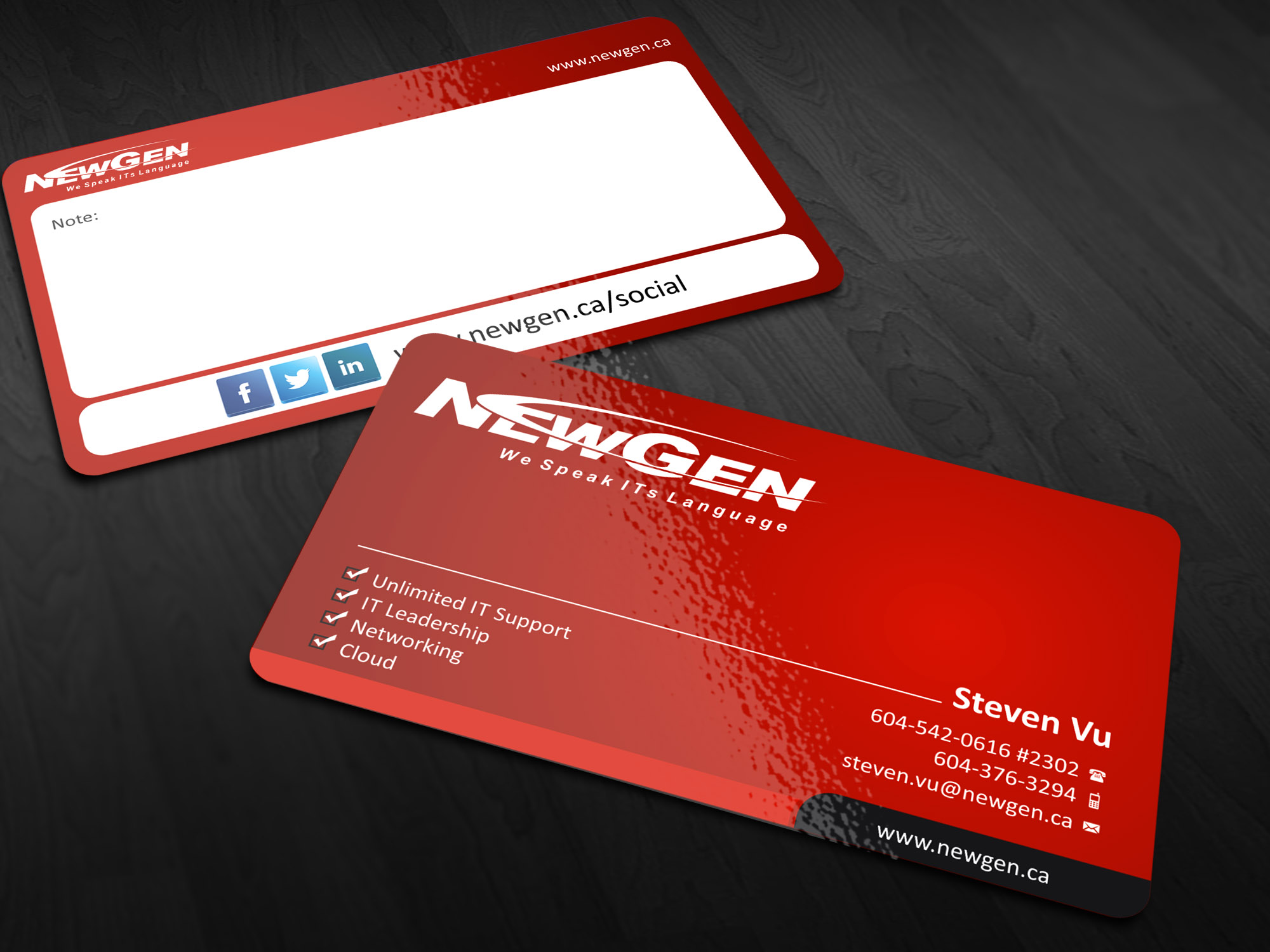 Business Card Design by Muhammad Aslam - Entry No. 41 in the Business Card Design Contest Inspiring Business Card Design for NewGen Technologies.