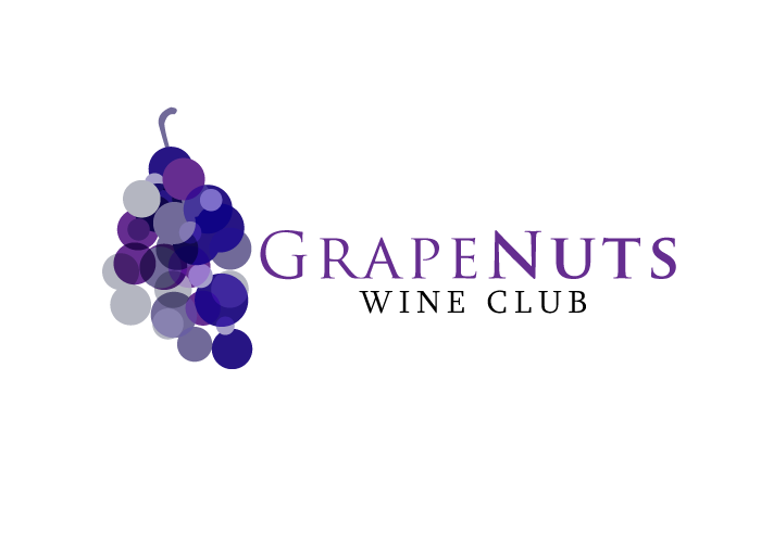 Logo Design by Jan Chua - Entry No. 9 in the Logo Design Contest Artistic Logo Design for Grape Nuts Wine Club.