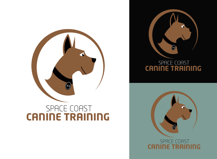 Logo Design by Jan Chua - Entry No. 9 in the Logo Design Contest Creative Logo Design for Space Coast Canine Training.