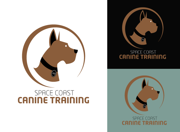Logo Design by Jan Chua - Entry No. 10 in the Logo Design Contest Creative Logo Design for Space Coast Canine Training.