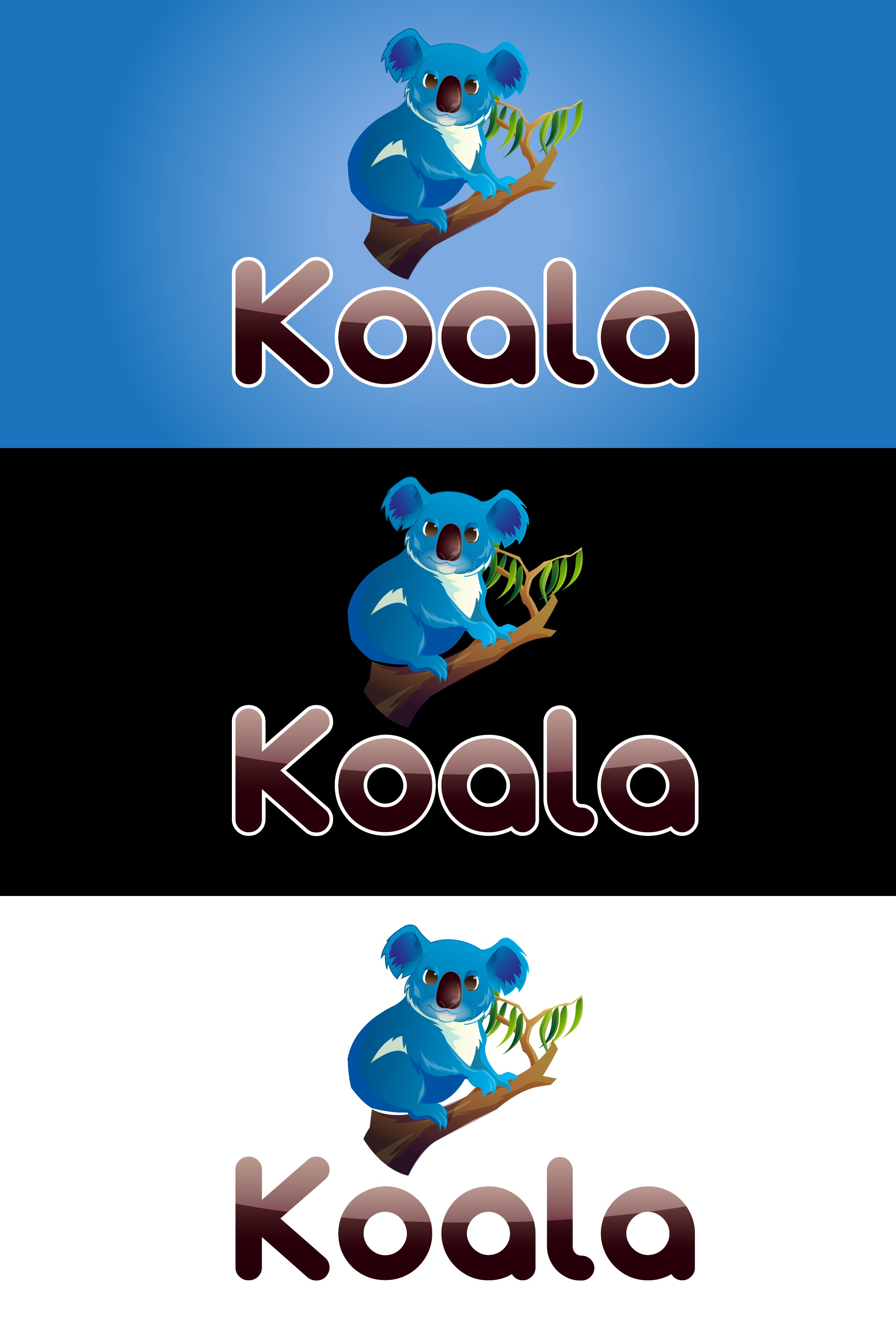 "Logo Design by mediaproductionart - Entry No. 24 in the Logo Design Contest Imaginative Logo Design for ""Koala""."
