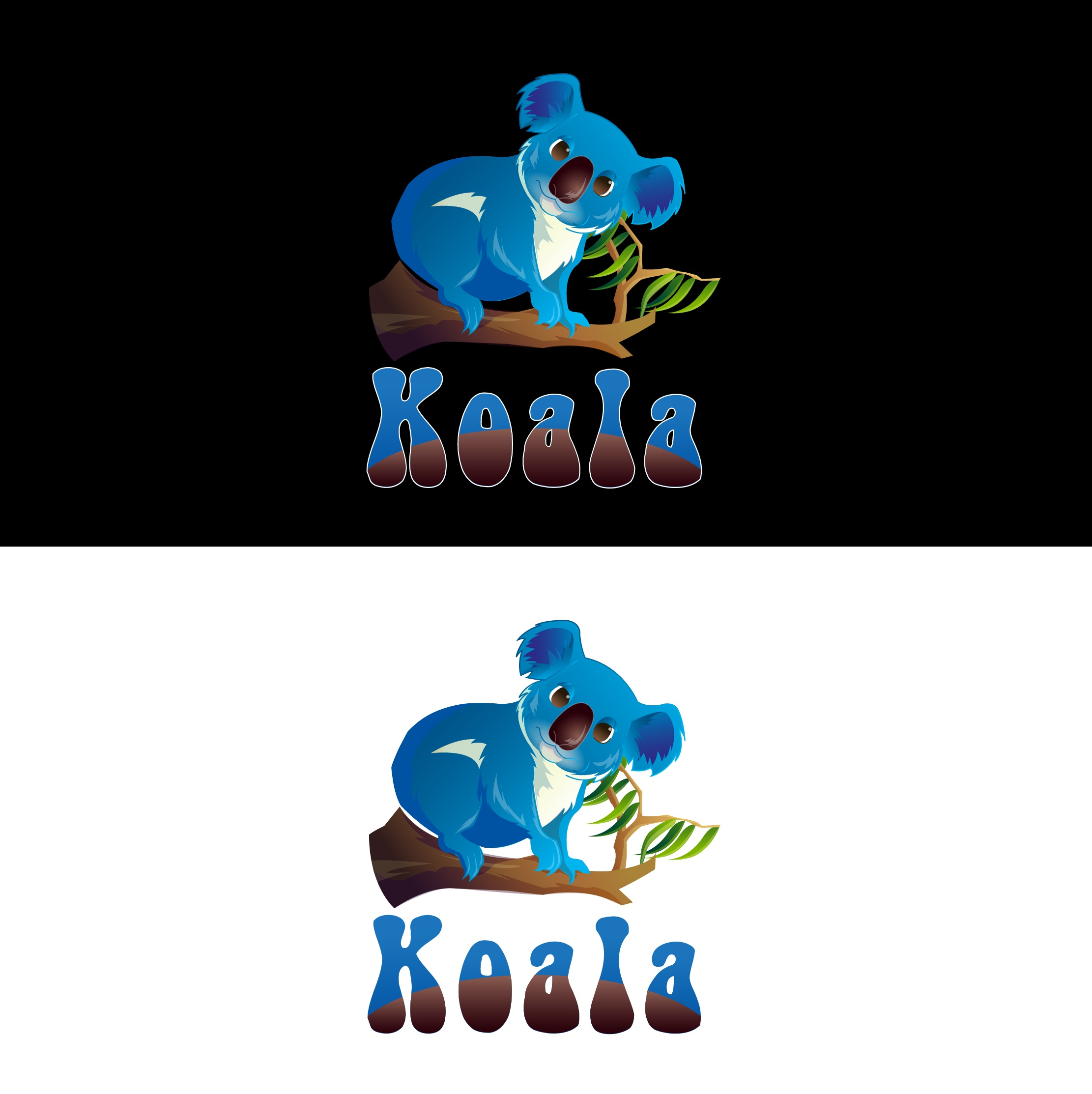 "Logo Design by mediaproductionart - Entry No. 25 in the Logo Design Contest Imaginative Logo Design for ""Koala""."