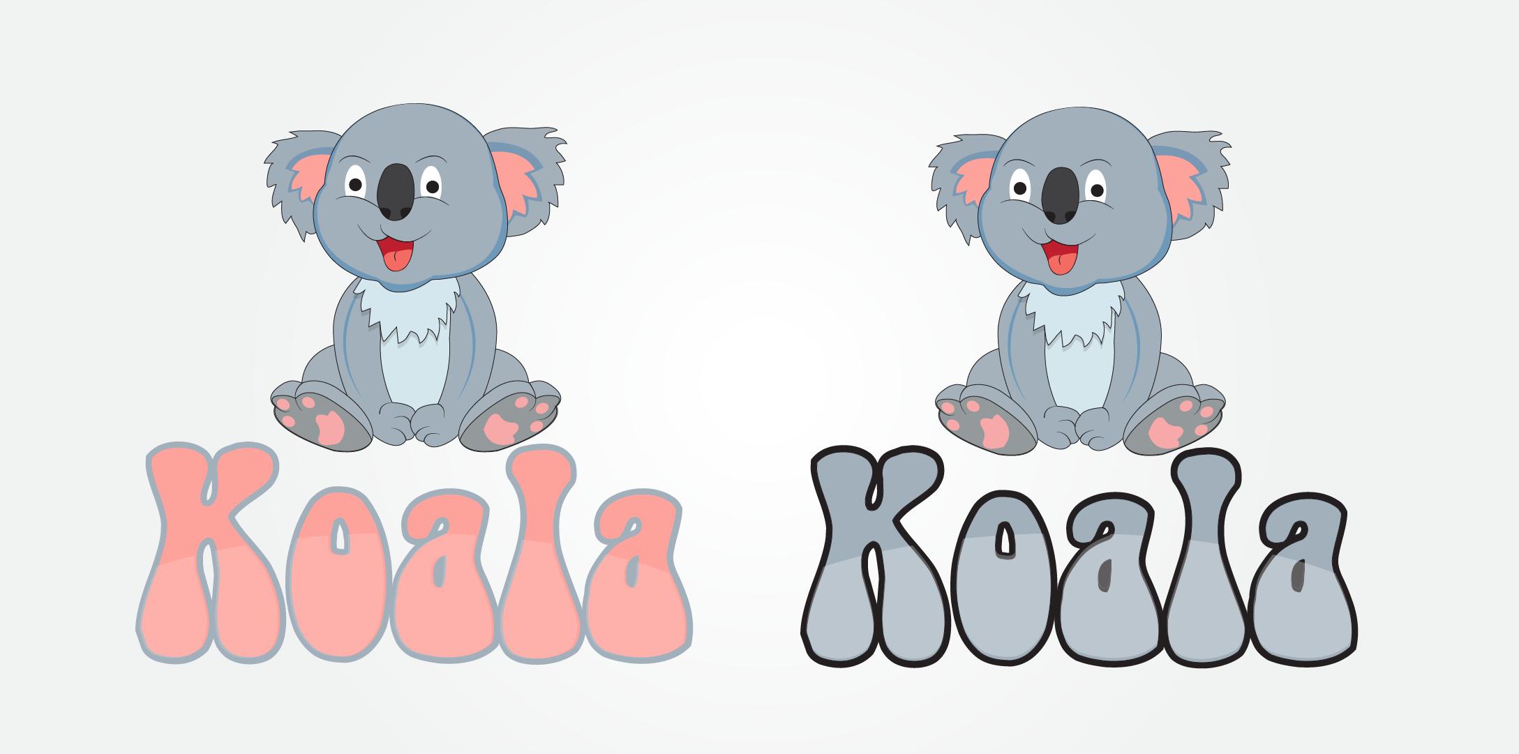 "Logo Design by mediaproductionart - Entry No. 27 in the Logo Design Contest Imaginative Logo Design for ""Koala""."