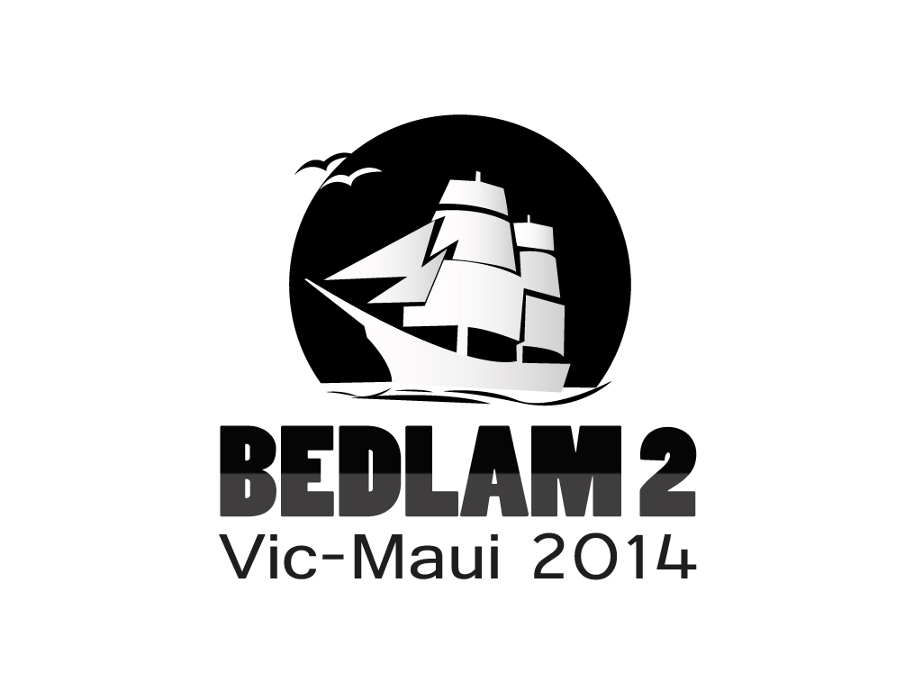 Logo Design by mediaproductionart - Entry No. 16 in the Logo Design Contest Artistic Logo Design for Bedlam 2  Vic-Maui 2014.