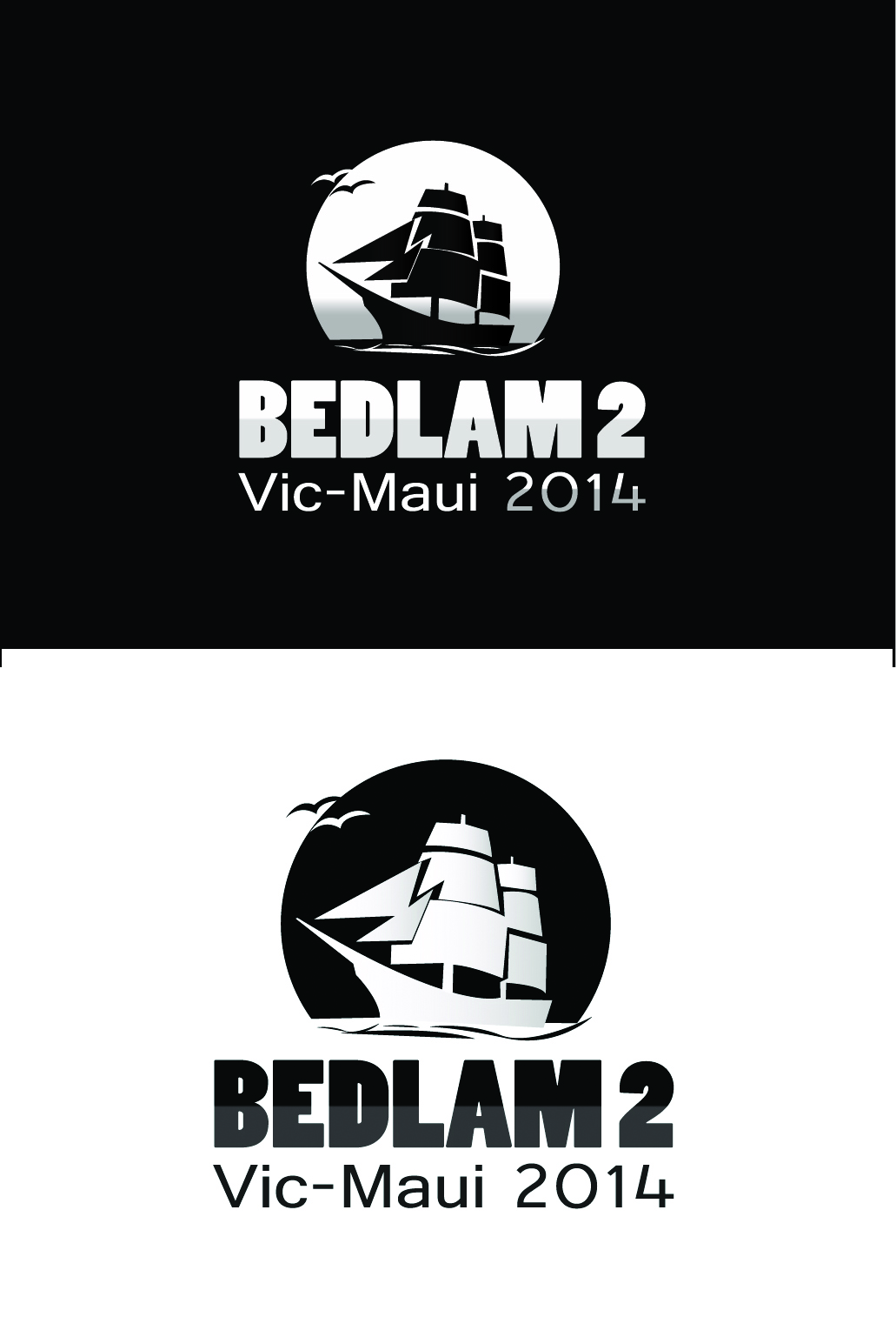 Logo Design by mediaproductionart - Entry No. 17 in the Logo Design Contest Artistic Logo Design for Bedlam 2  Vic-Maui 2014.