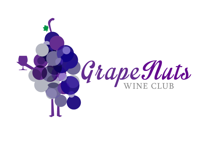 Logo Design by Jan Chua - Entry No. 14 in the Logo Design Contest Artistic Logo Design for Grape Nuts Wine Club.