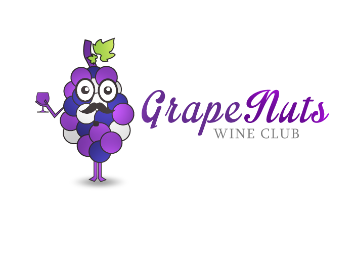 Logo Design by Jan Chua - Entry No. 15 in the Logo Design Contest Artistic Logo Design for Grape Nuts Wine Club.