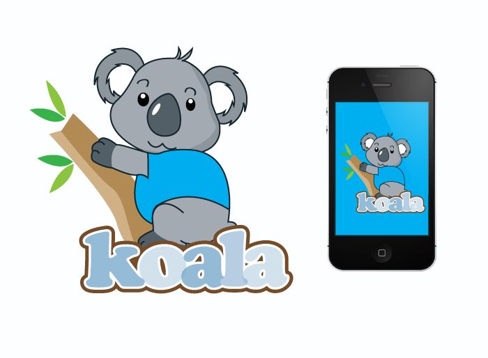 "Logo Design by Jan Chua - Entry No. 28 in the Logo Design Contest Imaginative Logo Design for ""Koala""."