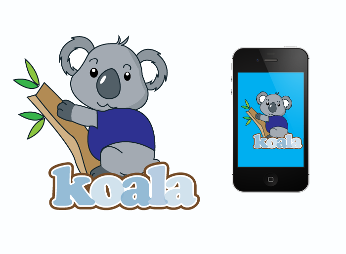 "Logo Design by Jan Chua - Entry No. 29 in the Logo Design Contest Imaginative Logo Design for ""Koala""."