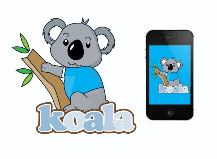 """Logo Design by Jan Chua - Entry No. 30 in the Logo Design Contest Imaginative Logo Design for """"Koala""""."""
