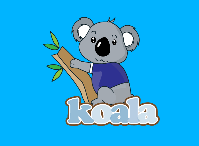 "Logo Design by Jan Chua - Entry No. 31 in the Logo Design Contest Imaginative Logo Design for ""Koala""."