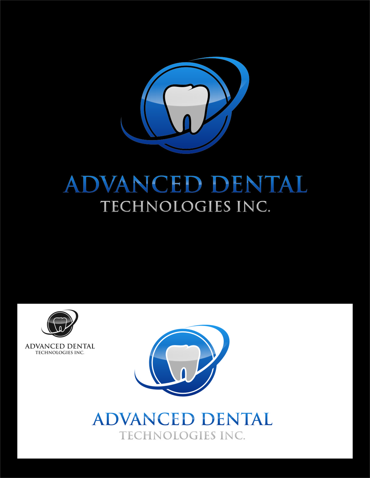 Logo Design by RoSyid Rono-Rene On Java - Entry No. 105 in the Logo Design Contest Fun Logo Design for Advanced Dental Technologies Inc..
