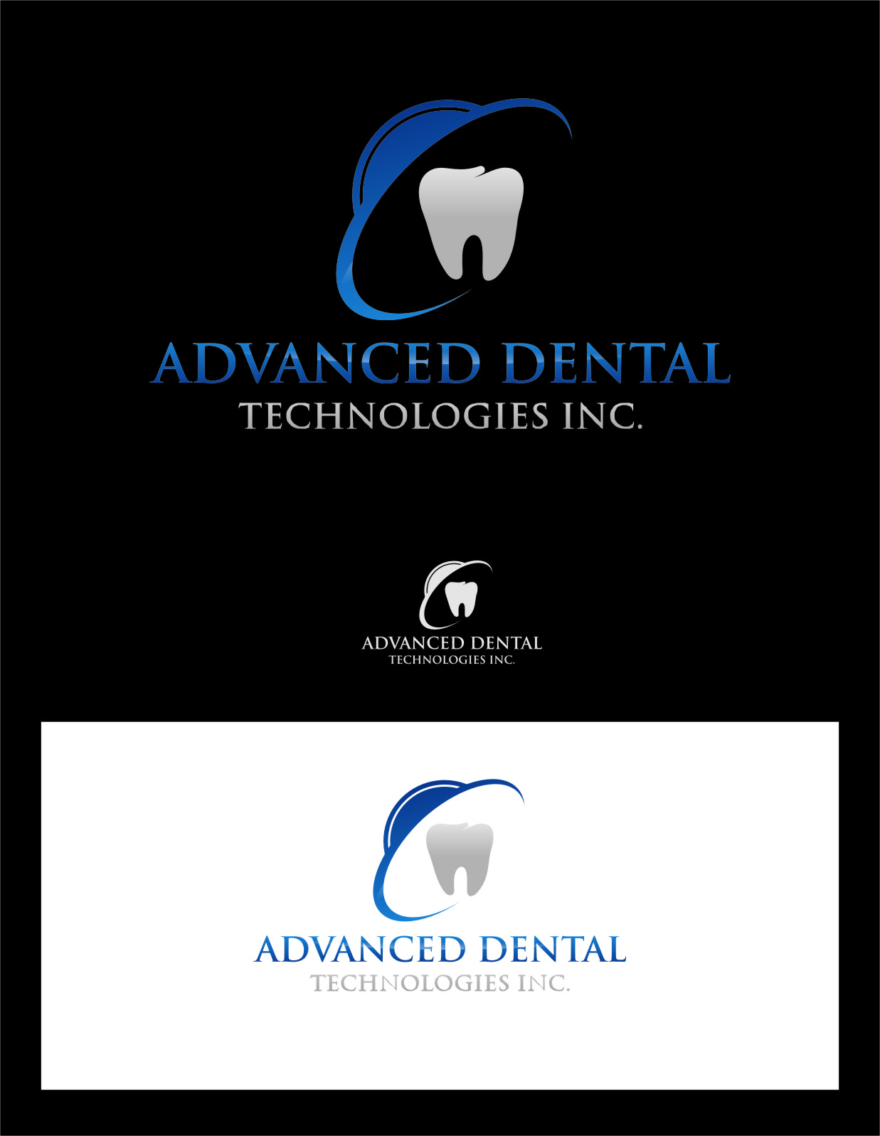 Logo Design by Ngepet_art - Entry No. 107 in the Logo Design Contest Fun Logo Design for Advanced Dental Technologies Inc..
