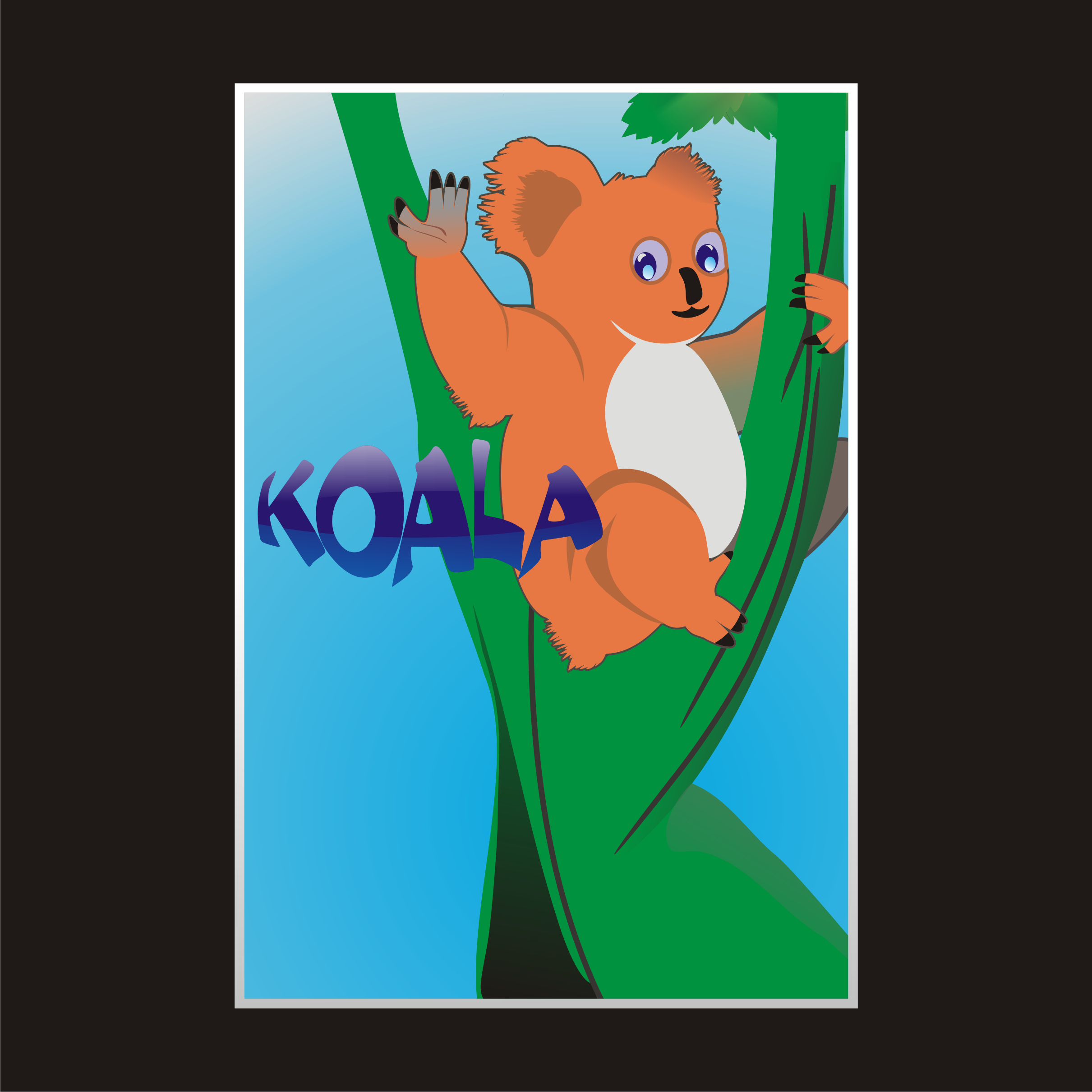 "Logo Design by Private User - Entry No. 32 in the Logo Design Contest Imaginative Logo Design for ""Koala""."