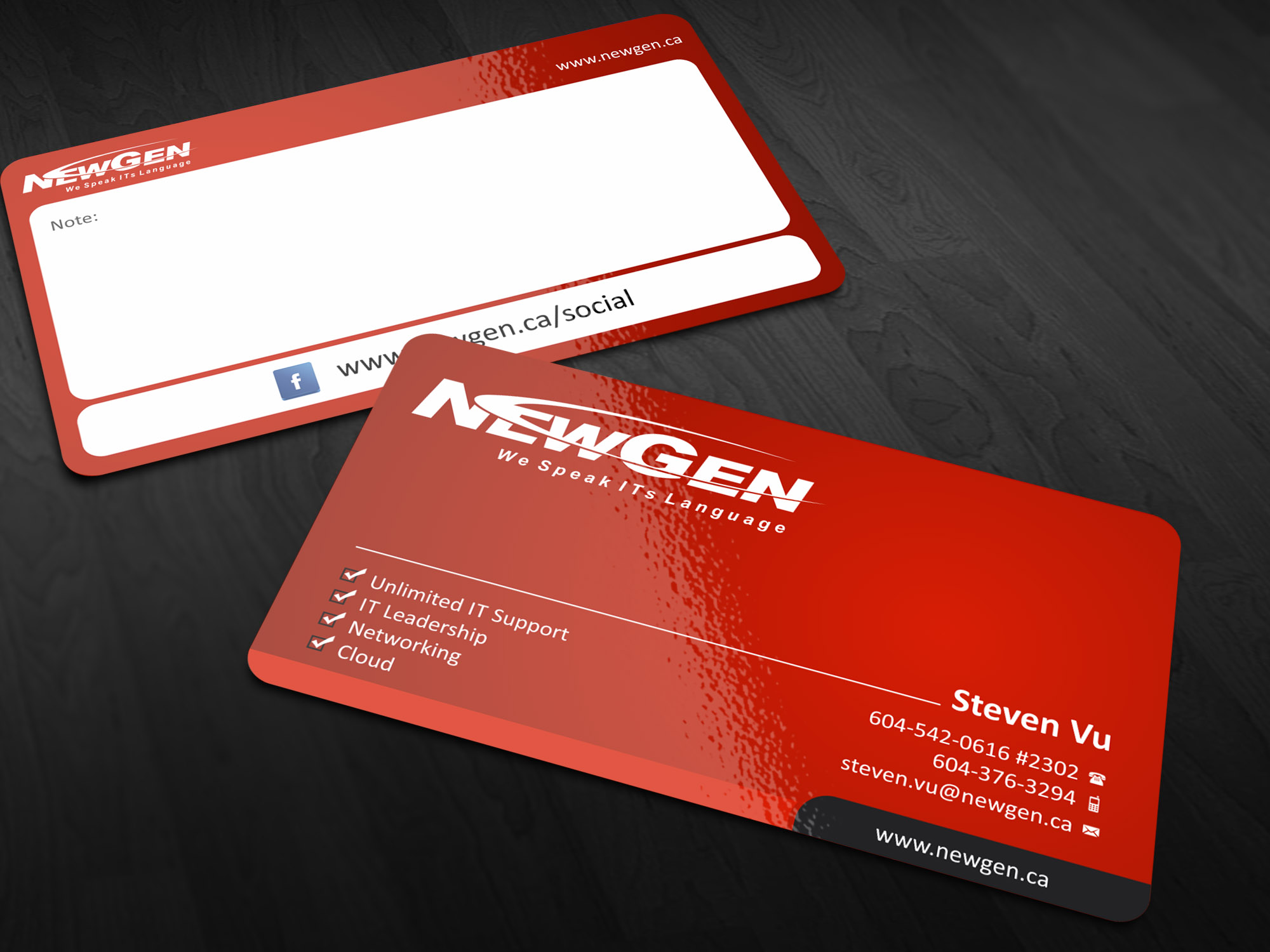 Business Card Design by Muhammad Aslam - Entry No. 59 in the Business Card Design Contest Inspiring Business Card Design for NewGen Technologies.