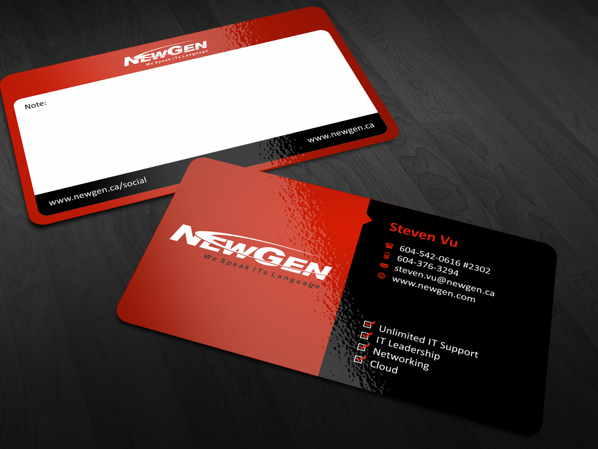 Business Card Design by Muhammad Aslam - Entry No. 62 in the Business Card Design Contest Inspiring Business Card Design for NewGen Technologies.