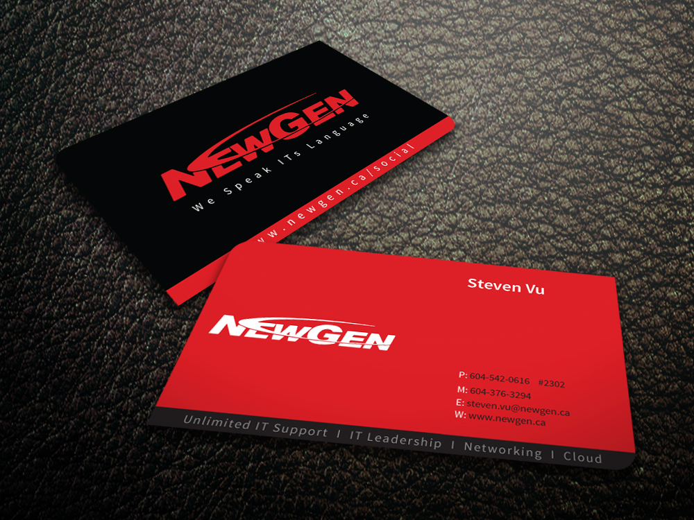 Business Card Design by mediaproductionart - Entry No. 64 in the Business Card Design Contest Inspiring Business Card Design for NewGen Technologies.