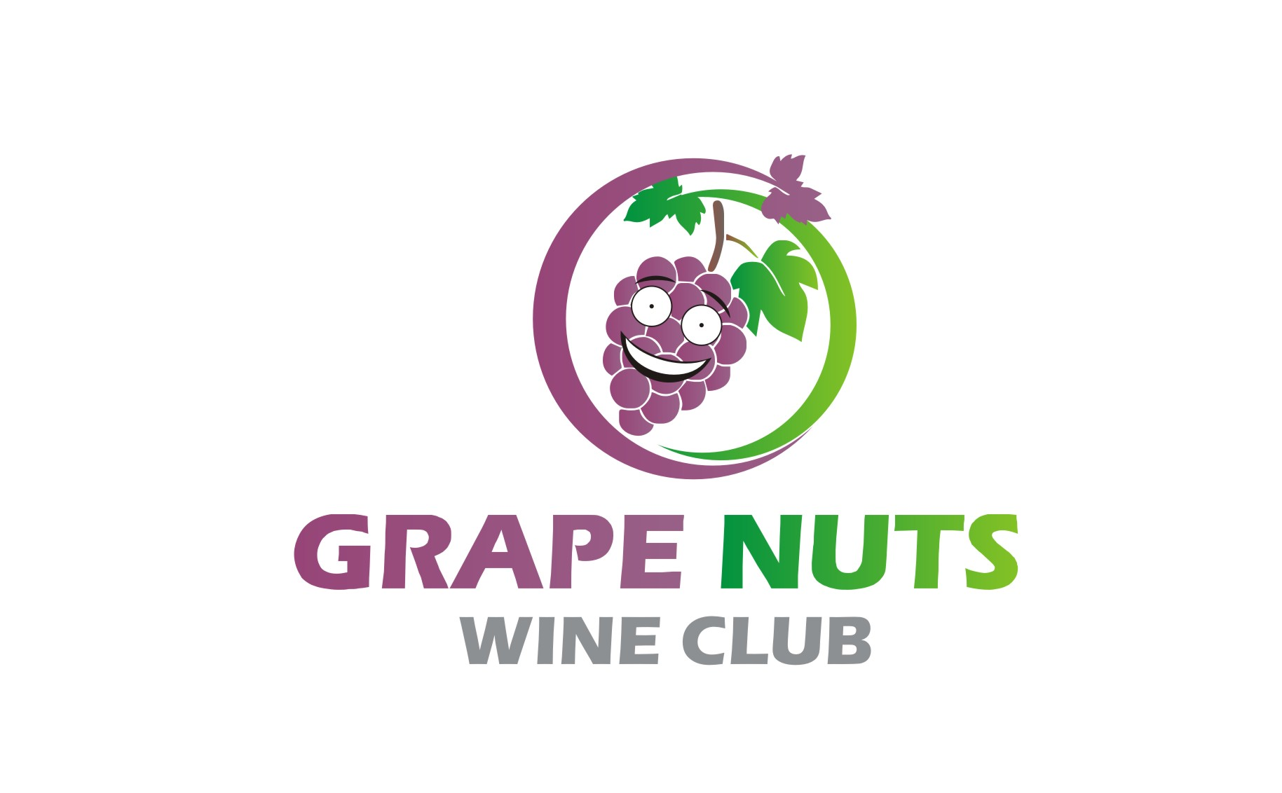 Logo Design by Yuda Hermawan - Entry No. 17 in the Logo Design Contest Artistic Logo Design for Grape Nuts Wine Club.