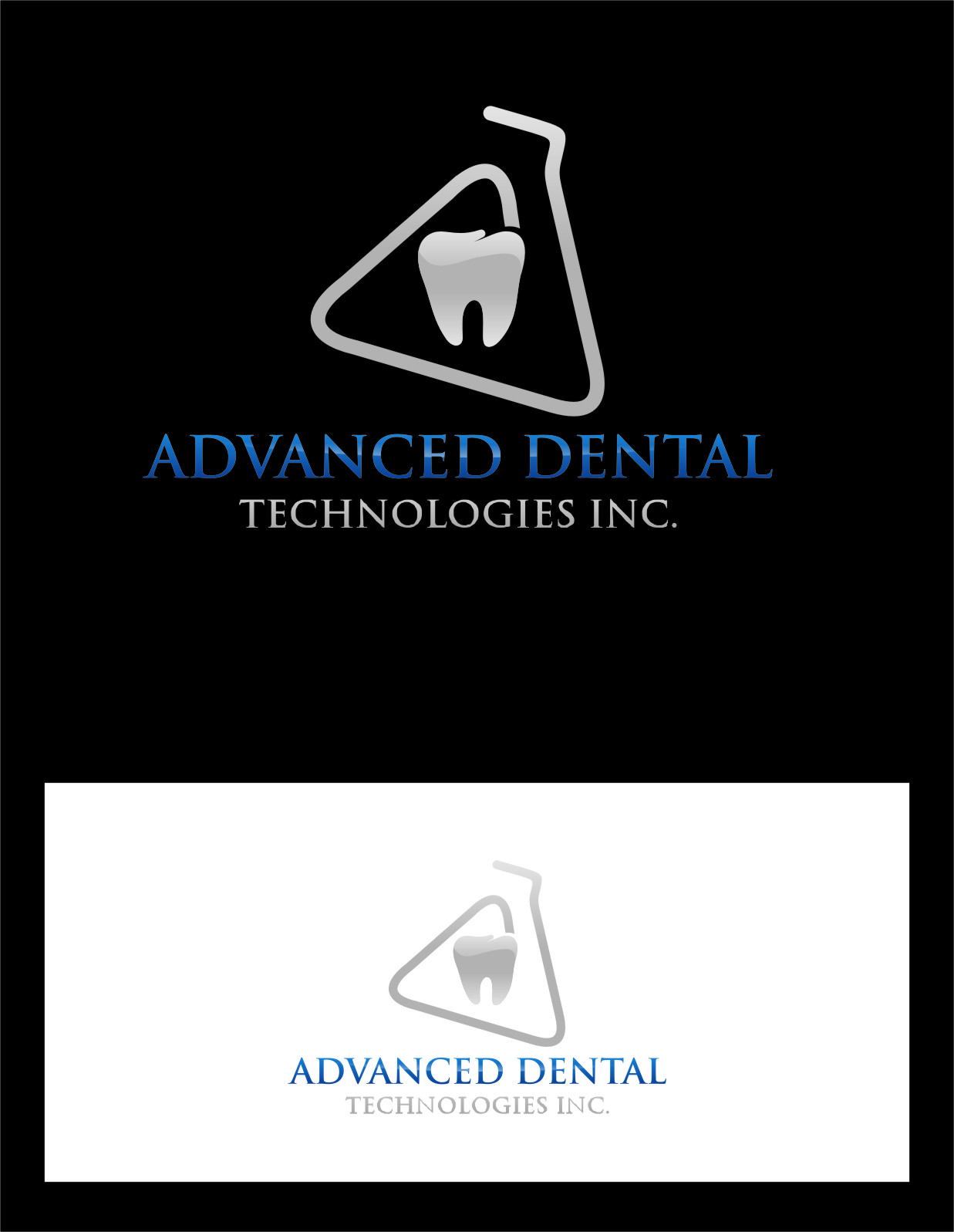 Logo Design by Ngepet_art - Entry No. 117 in the Logo Design Contest Fun Logo Design for Advanced Dental Technologies Inc..
