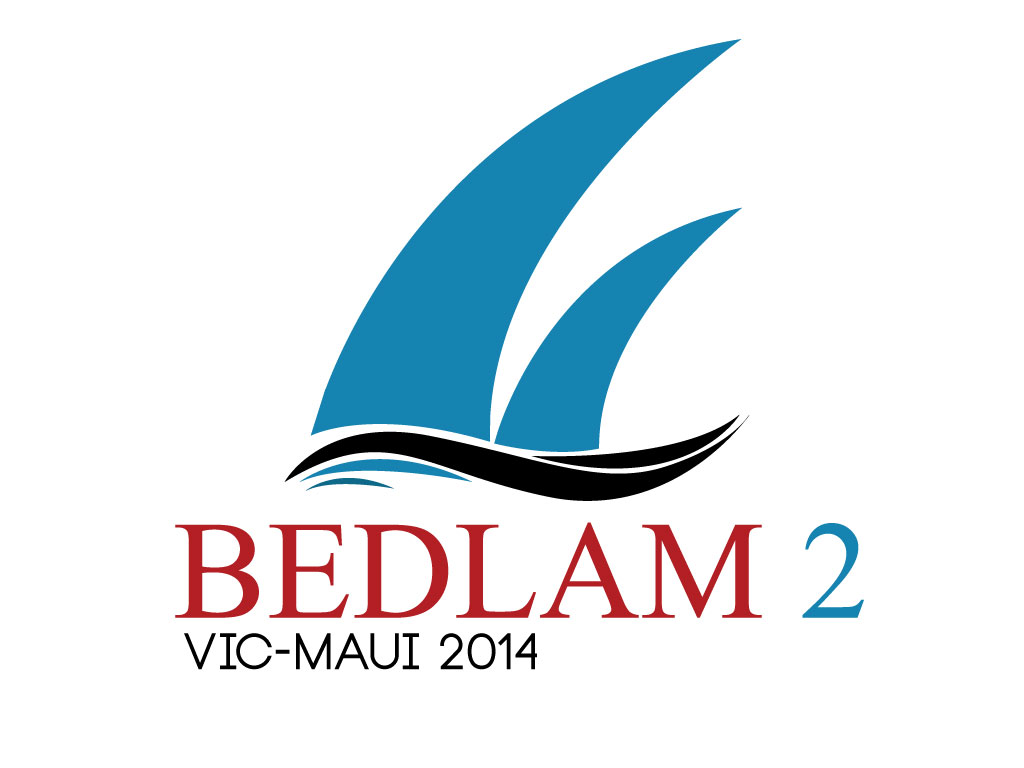 Logo Design by mediaproductionart - Entry No. 21 in the Logo Design Contest Artistic Logo Design for Bedlam 2  Vic-Maui 2014.
