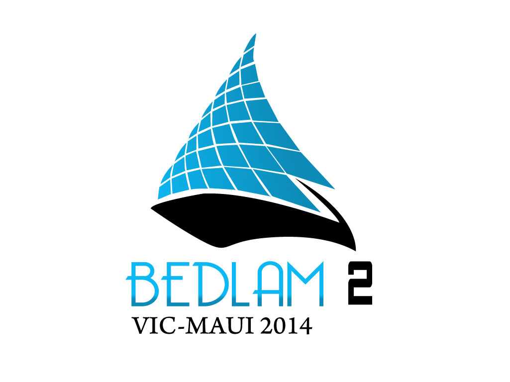 Logo Design by mediaproductionart - Entry No. 22 in the Logo Design Contest Artistic Logo Design for Bedlam 2  Vic-Maui 2014.