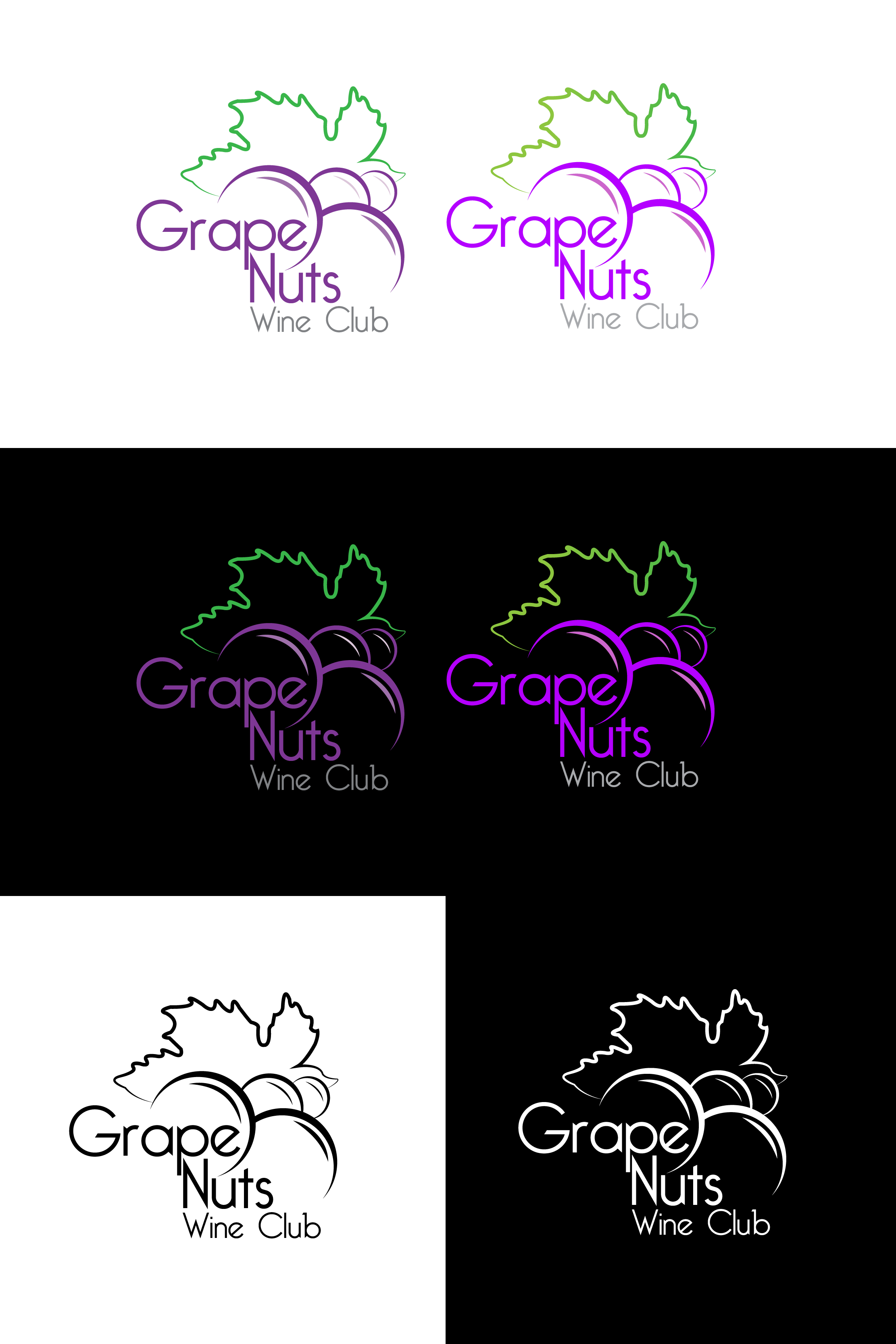 Logo Design by mediaproductionart - Entry No. 24 in the Logo Design Contest Artistic Logo Design for Grape Nuts Wine Club.