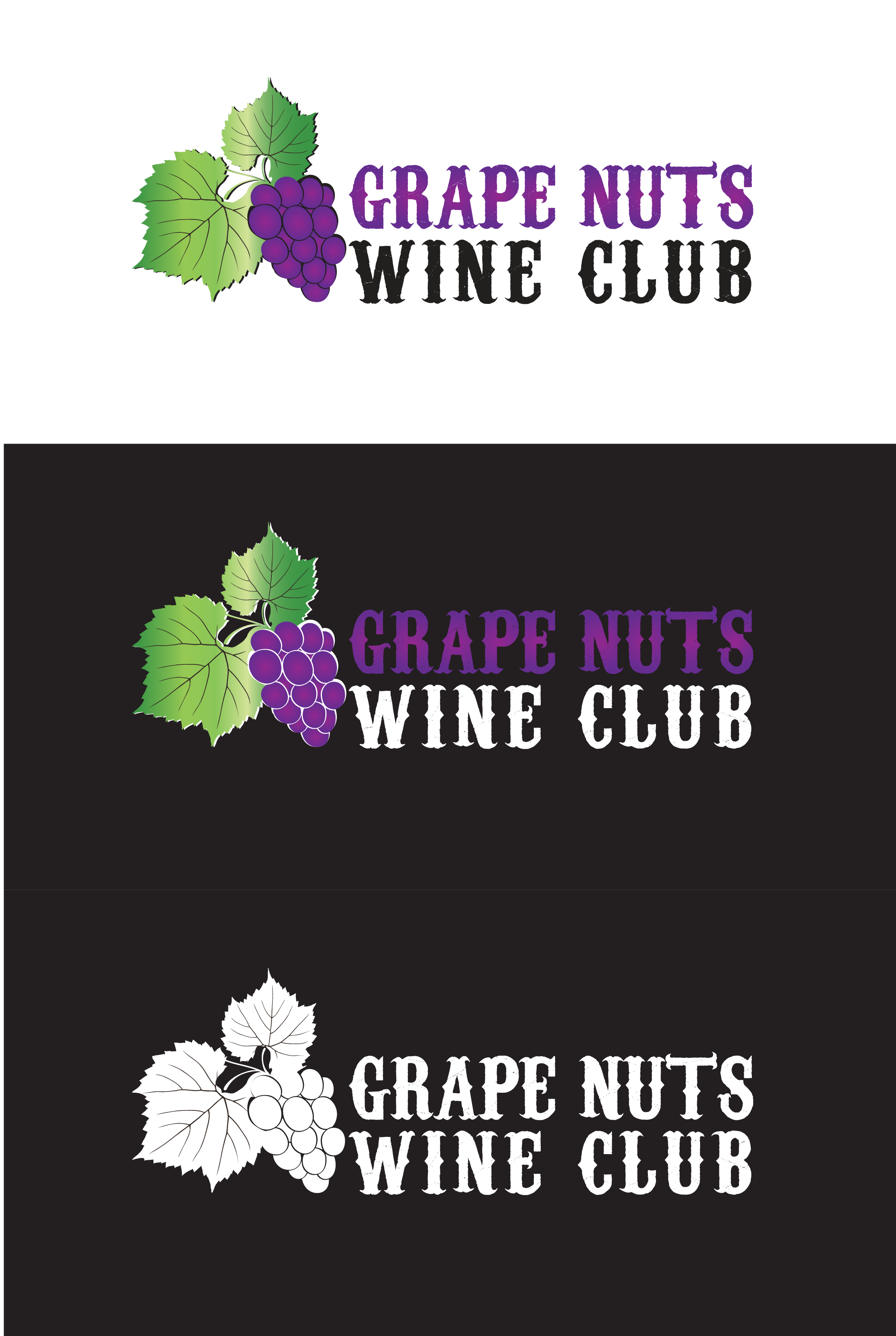 Logo Design by mediaproductionart - Entry No. 25 in the Logo Design Contest Artistic Logo Design for Grape Nuts Wine Club.