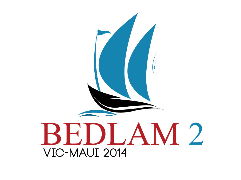 Logo Design by mediaproductionart - Entry No. 25 in the Logo Design Contest Artistic Logo Design for Bedlam 2  Vic-Maui 2014.