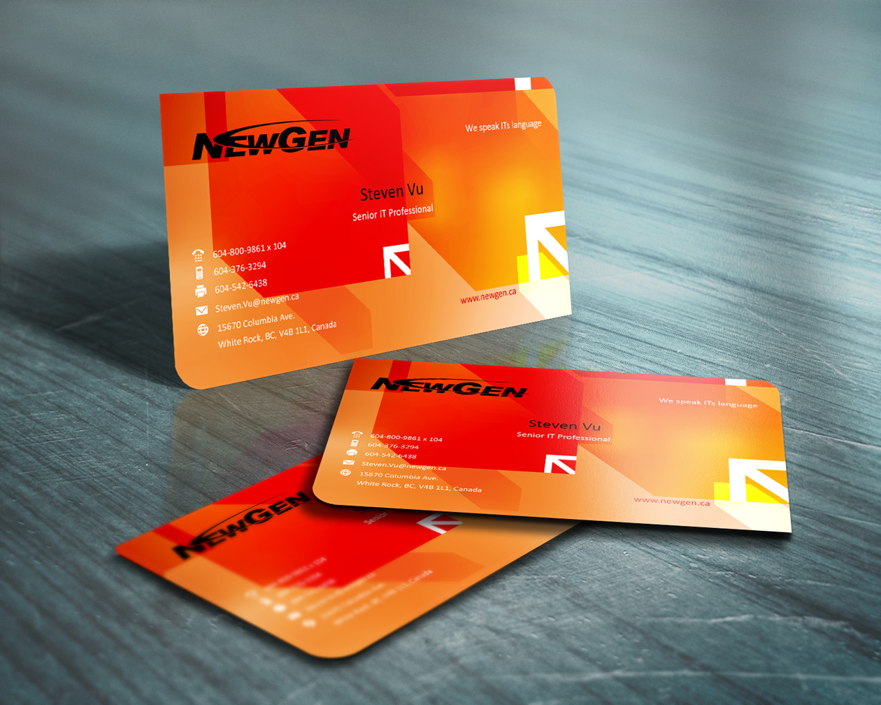 Business Card Design by Emad A Zyed - Entry No. 76 in the Business Card Design Contest Inspiring Business Card Design for NewGen Technologies.