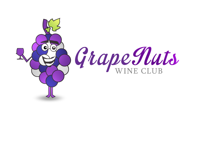 Logo Design by Jan Chua - Entry No. 28 in the Logo Design Contest Artistic Logo Design for Grape Nuts Wine Club.