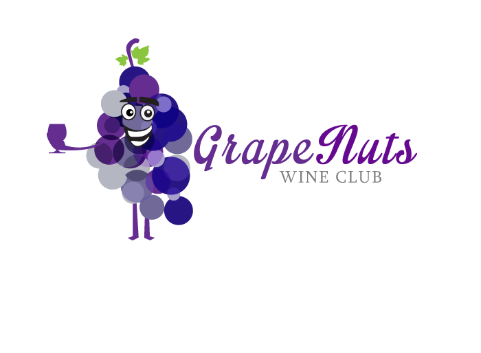 Logo Design by Jan Chua - Entry No. 29 in the Logo Design Contest Artistic Logo Design for Grape Nuts Wine Club.