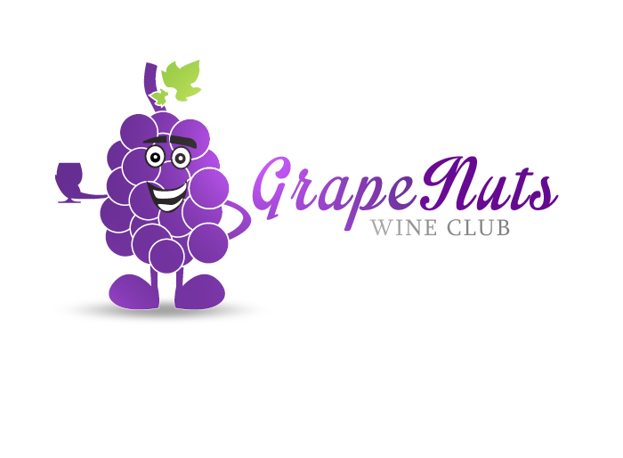 Logo Design by Jan Chua - Entry No. 30 in the Logo Design Contest Artistic Logo Design for Grape Nuts Wine Club.