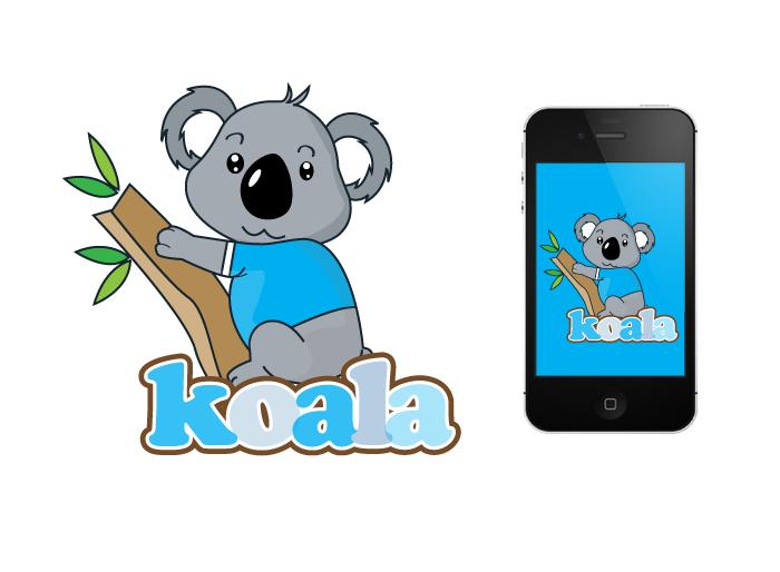 """Logo Design by Jan Chua - Entry No. 44 in the Logo Design Contest Imaginative Logo Design for """"Koala""""."""